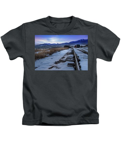 Winter Tracks Kids T-Shirt