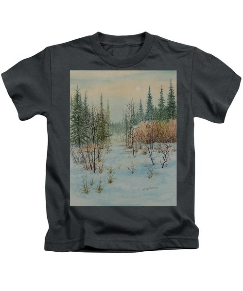 Winter Trail Alberta Kids T-Shirt