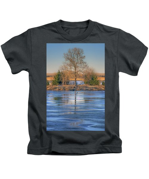 Winter Tree - Walnut Creek Lake Kids T-Shirt