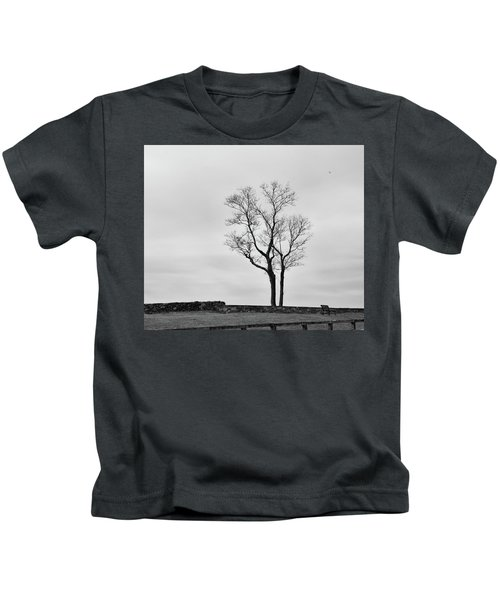 Winter Trees And Fences Kids T-Shirt