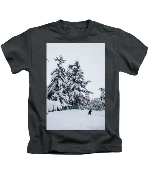 Winter Trekking-2 Kids T-Shirt