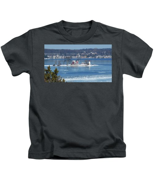 Winter View Of Crossover Island Kids T-Shirt