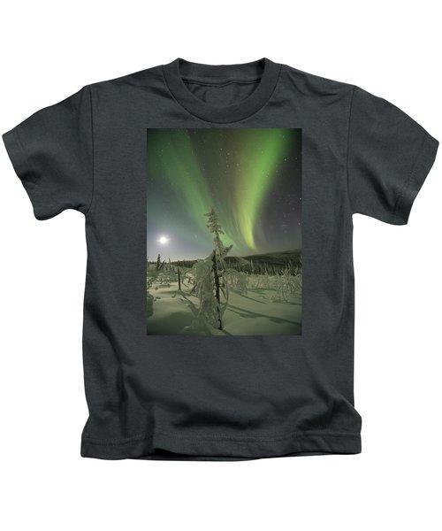 Winter Wonderland Aurora Kids T-Shirt