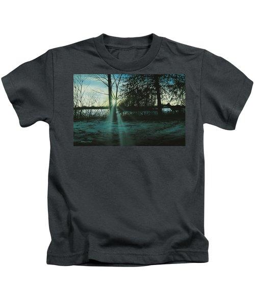 Winter's Evening Scout Kids T-Shirt