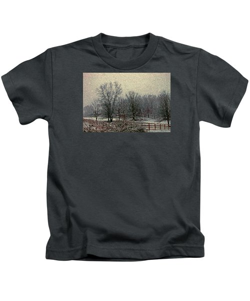 Winter's First Snowfall Kids T-Shirt