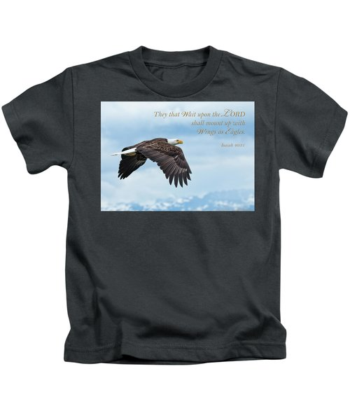 With Wings As Eagles Kids T-Shirt