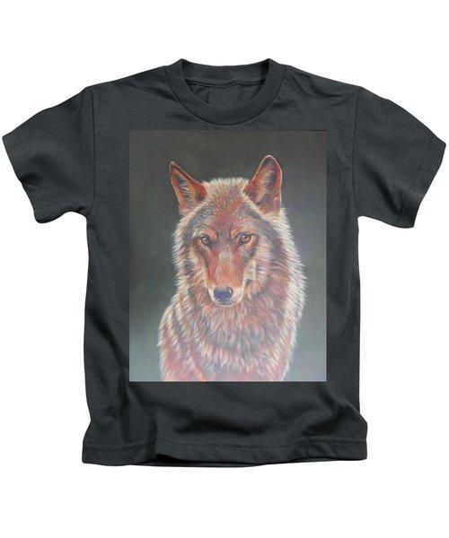 Wolf Portrait Kids T-Shirt