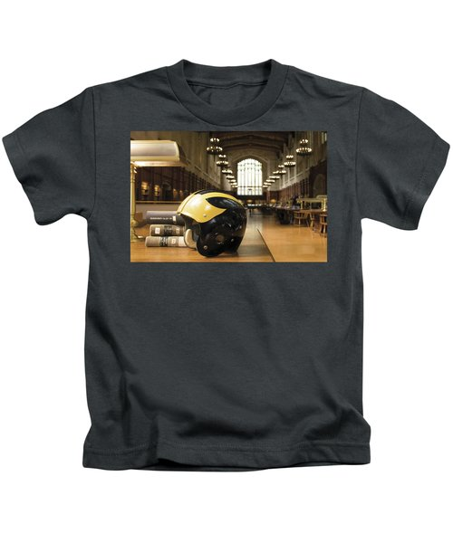 Wolverine Helmet In Law Library Kids T-Shirt