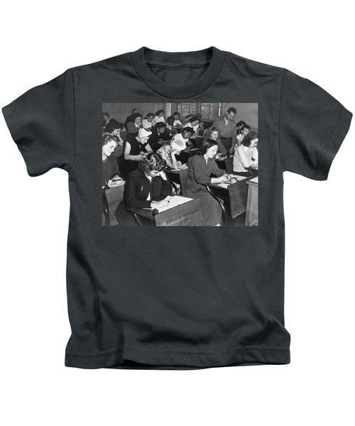 Women Taking Police Exam Kids T-Shirt