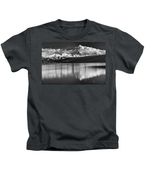 Wonder Lake In Black And White Kids T-Shirt