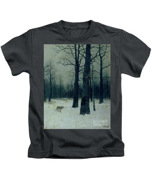 Wood In Winter Kids T-Shirt