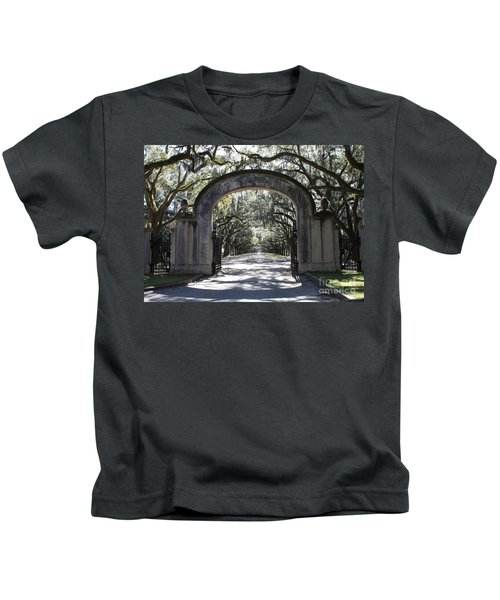 Wormsloe Plantation Gate Kids T-Shirt