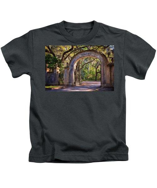 Wormsloe Plantation Gate Kids T-Shirt