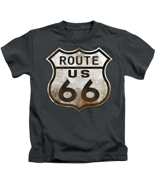 Worn Route 66 Kids T-Shirt