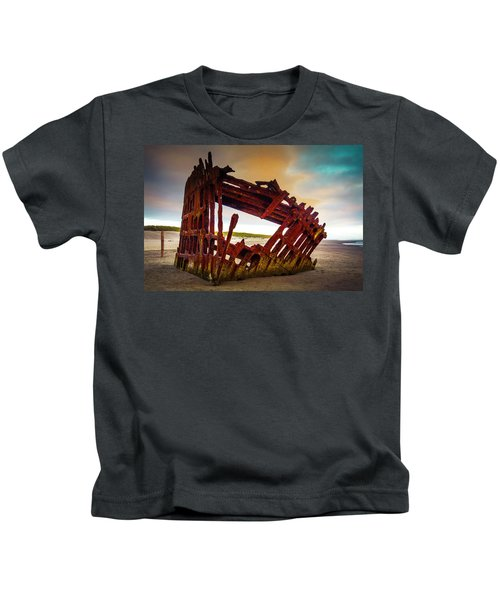 Worn Rusting Shipwreck Kids T-Shirt