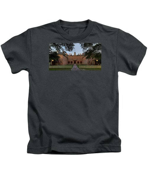Wren Building At Dusk Kids T-Shirt