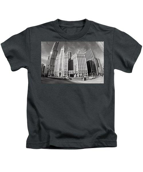 Wrigley Building - Chicago Kids T-Shirt
