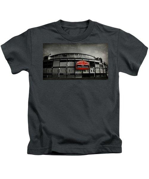 Wrigley Field Kids T-Shirt by Stephen Stookey