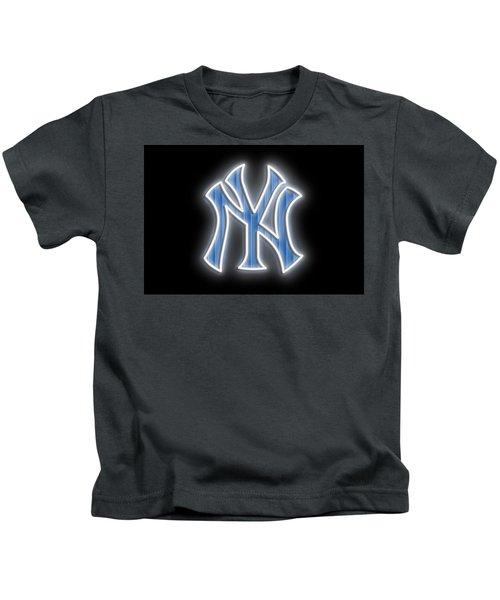 Yankees Neon Sign Kids T-Shirt