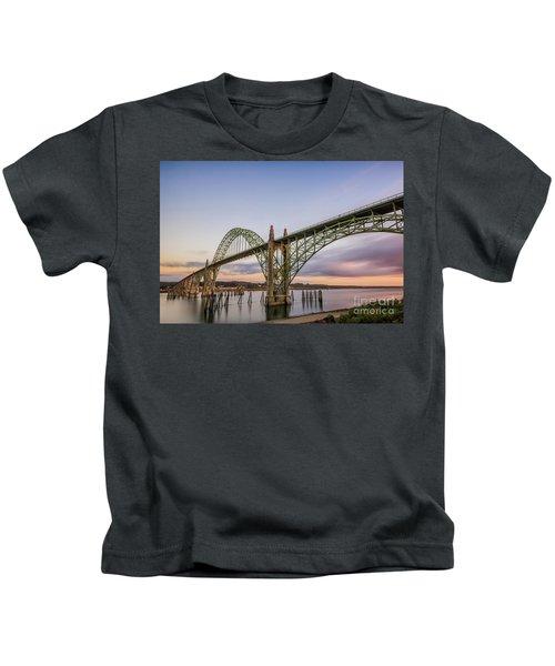Yaquina Bay Bridge Kids T-Shirt