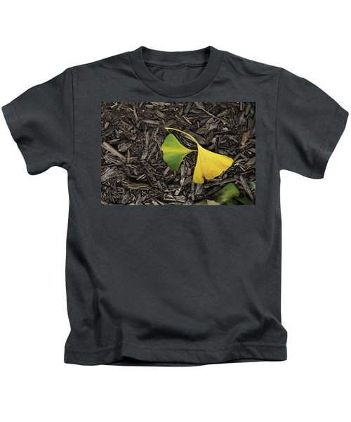 Yellow And Green Gingko Kids T-Shirt