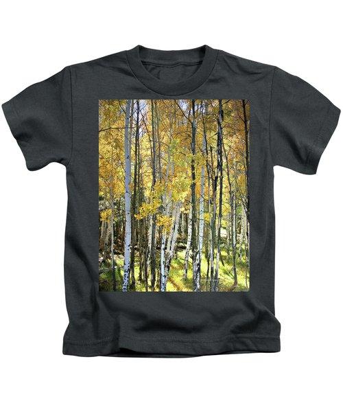 Yellow Aspens Kids T-Shirt
