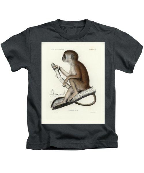 Yellow Baboon, Papio Cynocephalus Kids T-Shirt