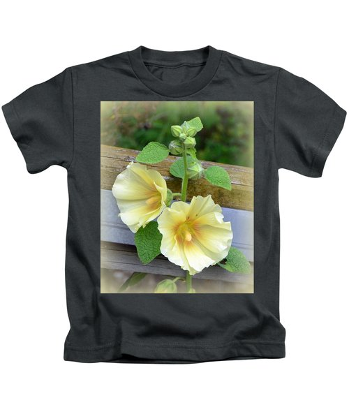 Yellow Hollyhocks Kids T-Shirt