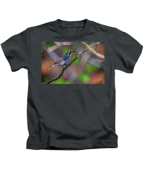 Yellow-throated Warbler Kids T-Shirt by Rick Berk
