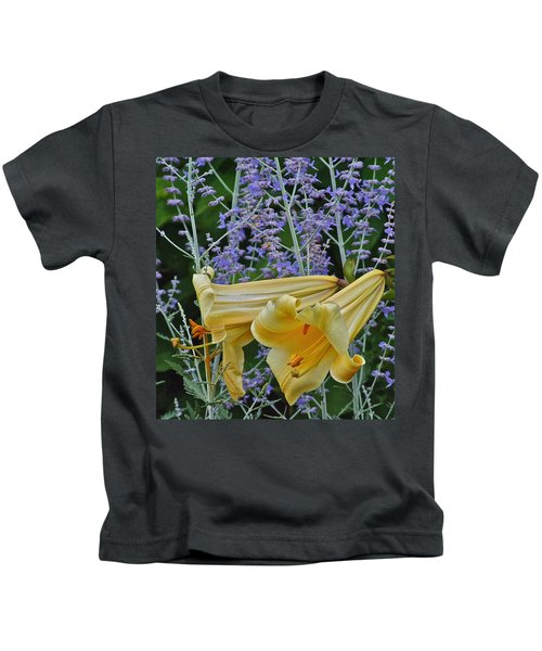 Yellow Trumpets Kids T-Shirt