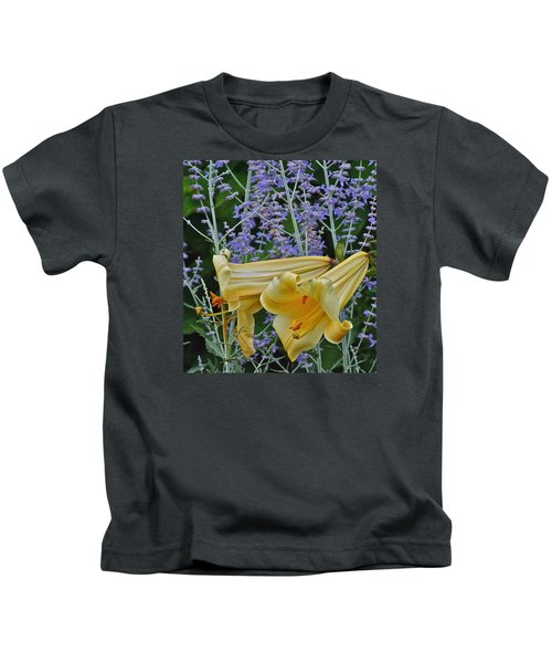 Yellow Trumpets Kids T-Shirt