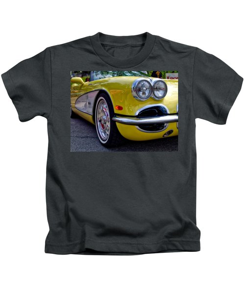 Yellow Vette Kids T-Shirt