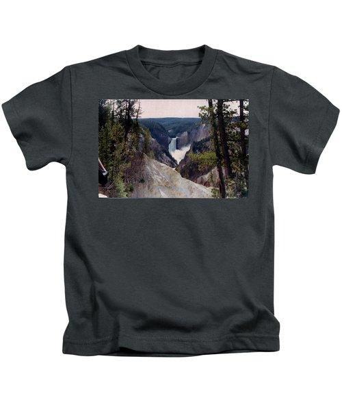 Yellowstone Water Fall Kids T-Shirt