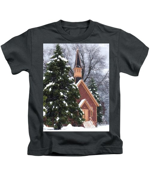 Yosemite Valley Chapel  Kids T-Shirt