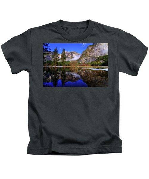 Yosemite Winter Reflections Kids T-Shirt