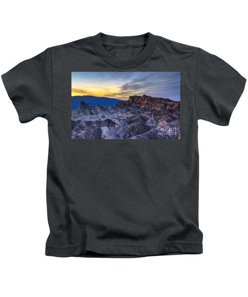 Zabriskie Point Sunset Kids T-Shirt