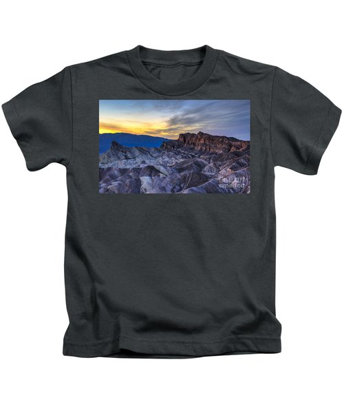 Zabriskie Point Sunset Kids T-Shirt