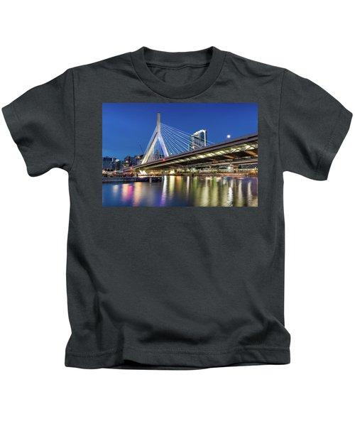 Zakim Bridge And Charles River Kids T-Shirt
