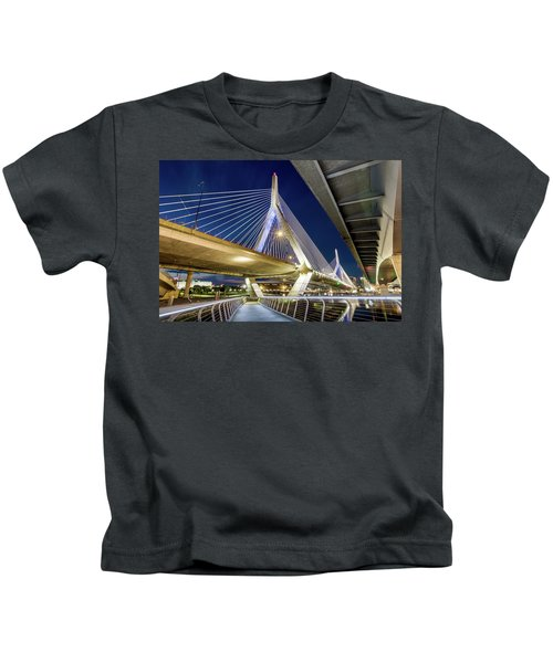 Zakim Bridge From Bridge Under Another Bridge Kids T-Shirt