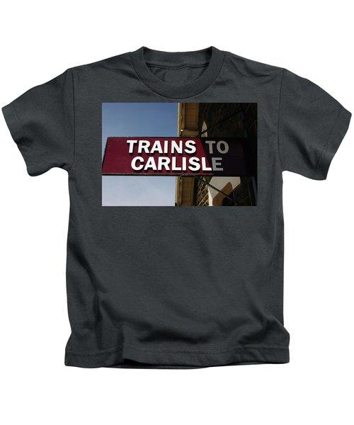 06/06/14 Settle. Station View. Destination Board. Kids T-Shirt