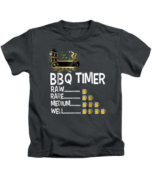 Bbq Timer Barbecue Shirt Funny Grill Grilling Gift Kids T-Shirt