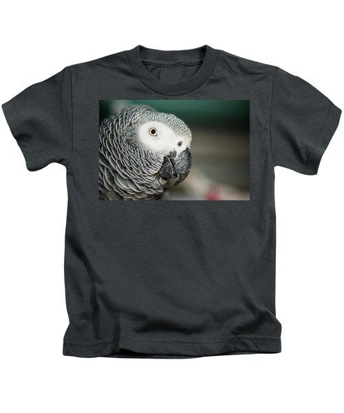 Close Up Of An African Grey Parrot Kids T-Shirt