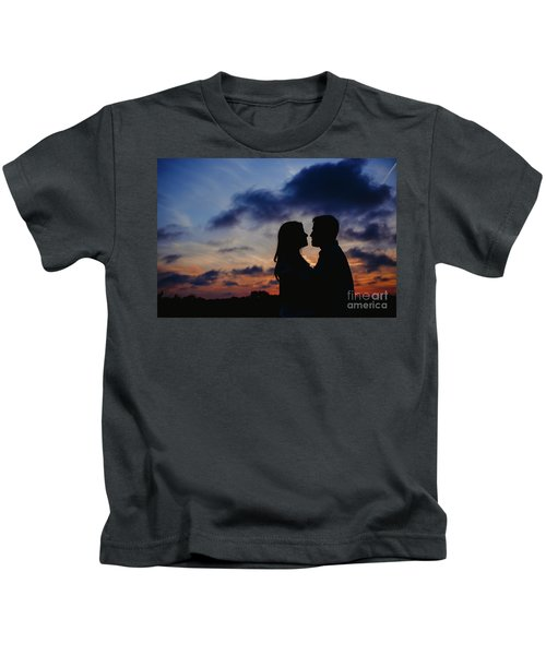 Couple With Cloud Sky Backlight Kids T-Shirt