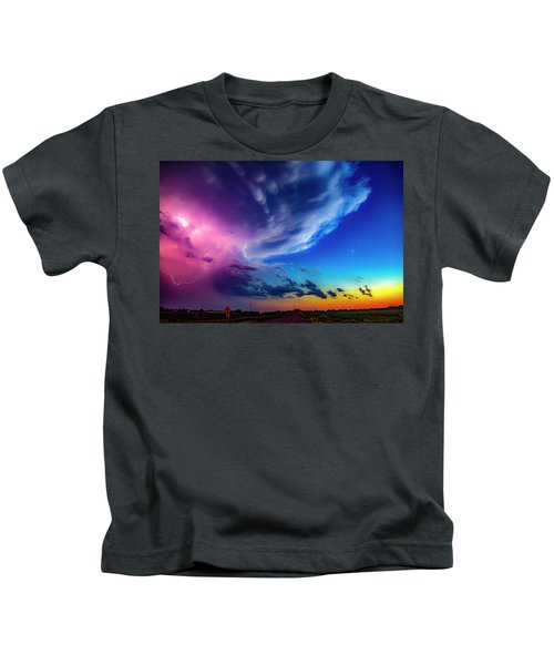Epic Nebraska Lightning 007 Kids T-Shirt