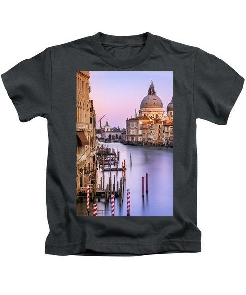 Evening Light In Venice Kids T-Shirt