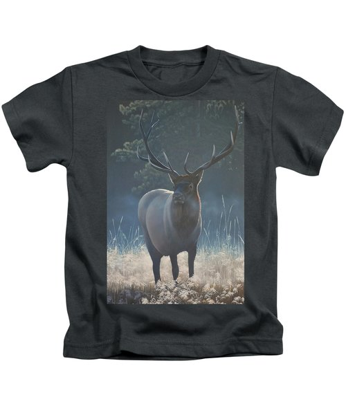 First Light - Bull Elk Kids T-Shirt