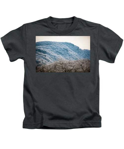 Frost On The Mountain Kids T-Shirt