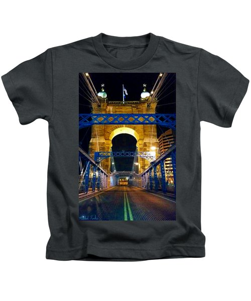 John A. Roebling Bridge Kids T-Shirt