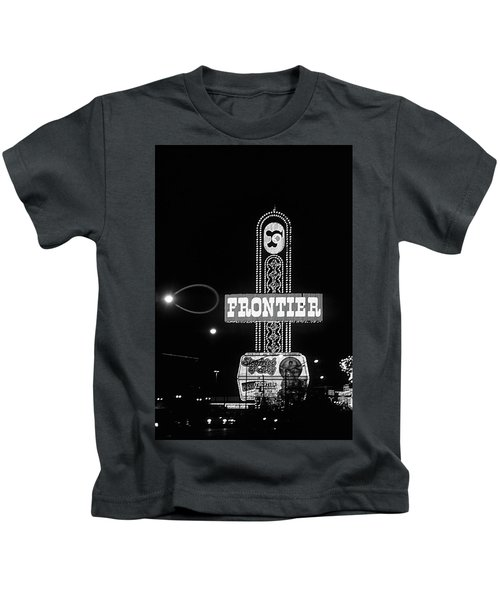 Las Vegas 1984 Bw #12 Kids T-Shirt