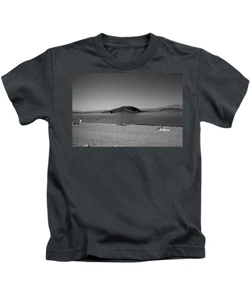 Las Vegas 1984 Bw #6 Kids T-Shirt